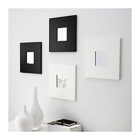 9 Mirrors with frame on wall