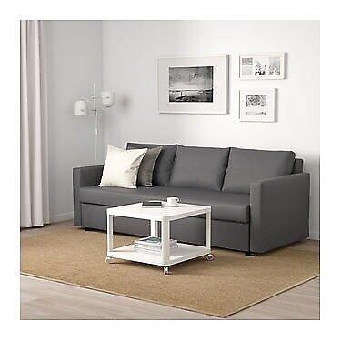 Ikea Frihiten 3 Seater Sofa bed Dark Grey 1 yr old Good Condition space saver