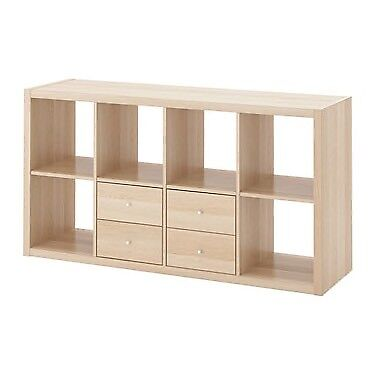 best authentic bec8c 0ea8a Ikea Kallax 4x2 unit, 2 drawer inserts, white oak | in Finnieston, Glasgow  | Gumtree