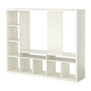 Large unit for TV/gaming/DVD equipt, with 5 storage baskets 147cm x 183cm