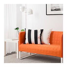IKEA couch / sofa orange like new