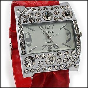Stone Womens Stainless Steel Quartz Designer Watch