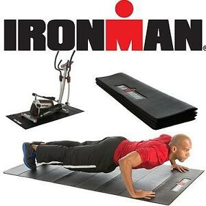 "NEW IRONMAN EXERCISE EQUIPMENT MAT WATERPROOF - FLOOR PROTECTION/NOISE REDUCTION - 78.7x35.4"" INCHES 105865489"