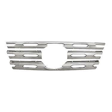 Chrome Grille Overlay (4 Pieces Kit) FITS 2017 2018 Nissan Pathfinder - Grille Overlay 4 Piece