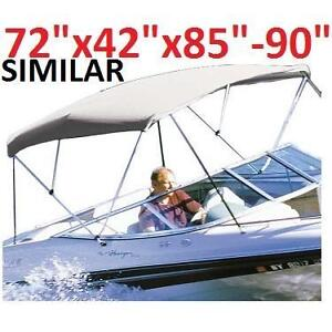 """NEW TAYLOR MADE BOAT BIMINI TOP - 119353235 - WHITE 72""""x42""""x85""""-90"""" BOATING COVER"""