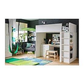 Ikea children's loft bed combo