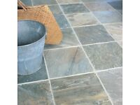 Floor Tiles - Fired Earth, Pale quartz classic