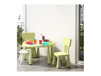 Ikea Mammut kids play table and chairs