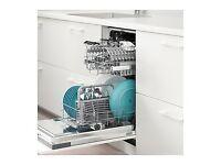 Ikea Medelstor integrated slim line dishwasher