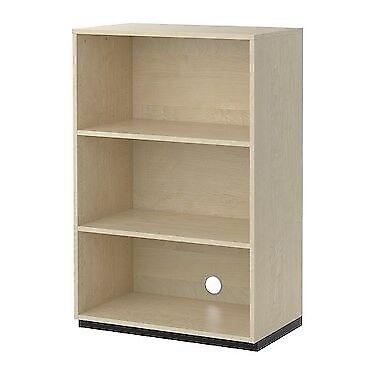 on sale dea51 64550 IKEA Galant 80 x 120 3 shelf bookshelf (Birch White veneer) - new condition  only 12 months old | in Wimbledon, London | Gumtree