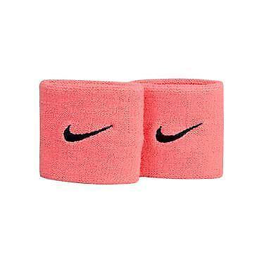 "2-pk Nike Perre-Poignets 3"" Swoosh Wristbands Pink OSFM 81601 FAST SHIP! E37"