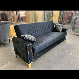 🎗🎗Top Quality Black Turkish Sofa Bed With Storage Available