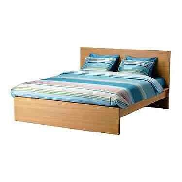 ikea malm european double bed frame oak wood - European Bed Frame