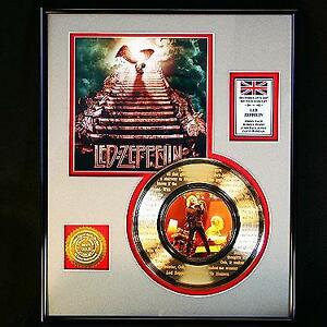 24k Led Zeppelin - Stairway to Heaven - Framed Record Display