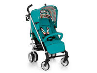EXDISPLAY HAUCK SPIRIT BUGGY PRAM PUSHCHAIR IN EVERGLADE . SUITABLE FROM BIRTH TO 3.UMBRELLA FOLD
