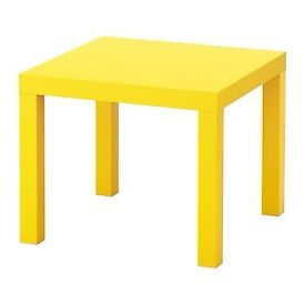 IKEA LACK yellow side table