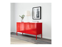 IKEA- red metal cabinet- vgc ** REDUCED**