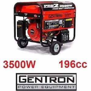 NEW* GENTRON 3500W GAS GENERATOR - 114685338 - 196 CC 6.5 HP ELECTRIC START BATTERY GENERATORS OUTDOOR POWER EQUIPMEN...