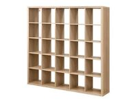 IKEA EXPEDIT / KALLAX BOOKCASE/SHELVING 5 X 5 UNIT OAK GOOD USED CONDITION 9 MTS OLD NOW SOLD