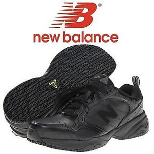 NEW NEW BALANCE SHOES MEN'S 7 MX626BK 207108653 BLACK SLIP RESISTANT SHOE