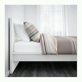 Ikea king malm bed frame, white