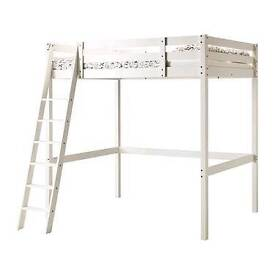 DOULBE BED- Loft bed with matress. Can deliver.