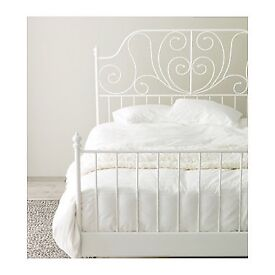 White Bed Frame and Mattress