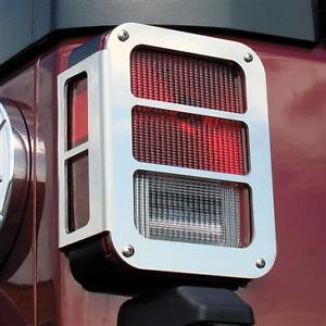 Jeep Wrangler Mirror SS Grille Guards, Tail Light Armor Trim