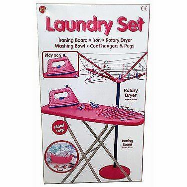 Kids Children Magical Iron Ironing Board Set Laundry Role Play New set