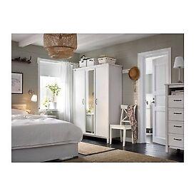 EXCELLENT CONDITION - Ikea White Mirror Door Wardrobe for sale