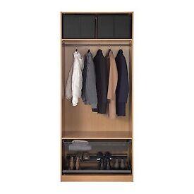 Ikea Double wardrobe in Oak