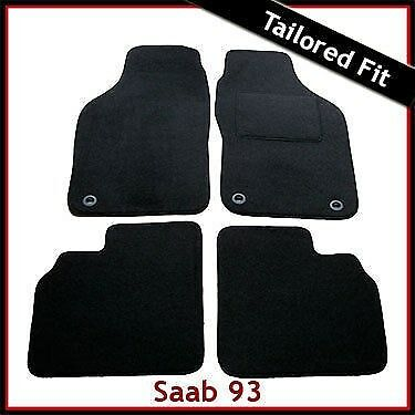 Saab 9-3 93 Mk1 1998-2002 Tailored Carpet Car Floor Mats BLACK