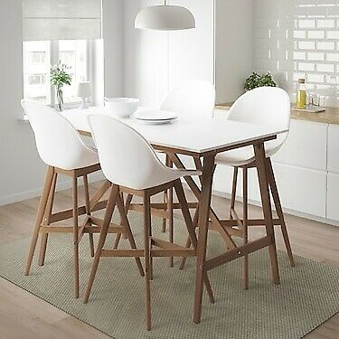 Strange Ikea Dining Table Set Fanbyn Bar Table And 4 Bar Stools In Leith Edinburgh Gumtree Home Interior And Landscaping Ologienasavecom
