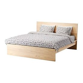 LIKE NEW!! IKEA MALM Double Bed with Memory Foam Mattress - EXCELLENT Condition OPEN TO OFFERS
