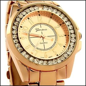Geneva Womens Stainless Steel Japanese Quartz Movement