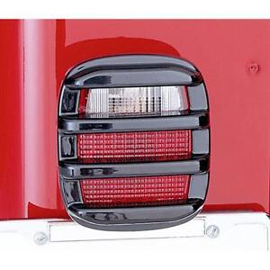 Tail Light Guards Smoke 76-06 Jeep CJ & Wrangler