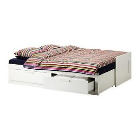 Ikea Day-bed with 2 drawers BRIMNES