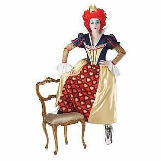 New Alice Halloween Red Queen Of Hearts Deluxe Costume Small