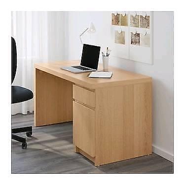 Merveilleux Ikea Malm Desk Oak Veneer