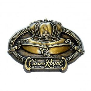 """Vintage CROWN ROYALS buckle golden 3.5 by 2.3"""" great condition"""