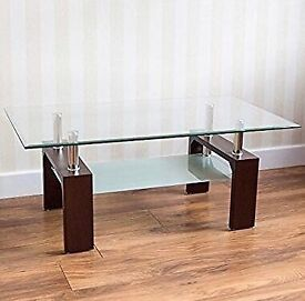 Glass coffee table. *must go Thursday 23rd*