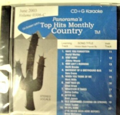 TOP HITS MONTHLY COUNTRY KARAOKE DVD/VIDEO CD JUNE 2003 VOL 0306-C NEW, SEALED!