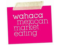 Waiting Staff - Competitive hourly rate & benefits - wahaca Manchester - Full and Part time