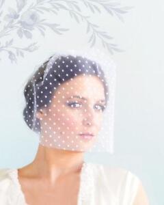Wedding Veils Birdcage Lace Ivory Long And Short Ebay