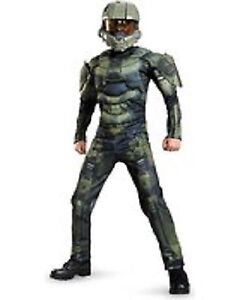New Boys Master Chief Muscle Costume Classic - Halo-LargeBoy