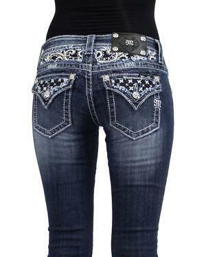 Womens Rhinestone Jeans Ebay