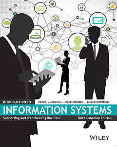 Brand New & Sealed Introduction to Information Systems 3rd Ed