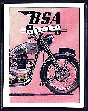 BSA - Collectors Card Set - Rocket Gold Star Bantam B31 Golden Flash Star Twin