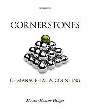 Bundle: Cornerstones of Managerial Accounting, Loose-leaf