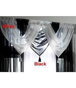 Tassled Voile Curtain Swags